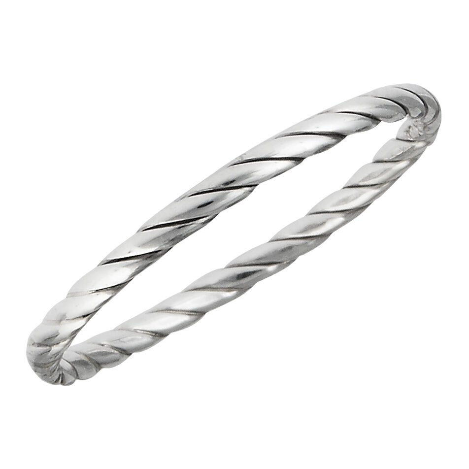 Sterling Silver Twisted Style Basic Ring Or Fitted Toe Ring Size