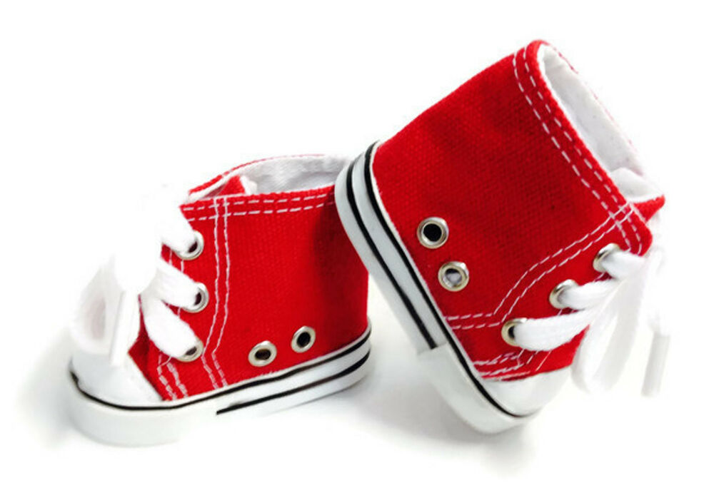 Red High Top Sneakers Tennis Shoes Made For 18 Quot American