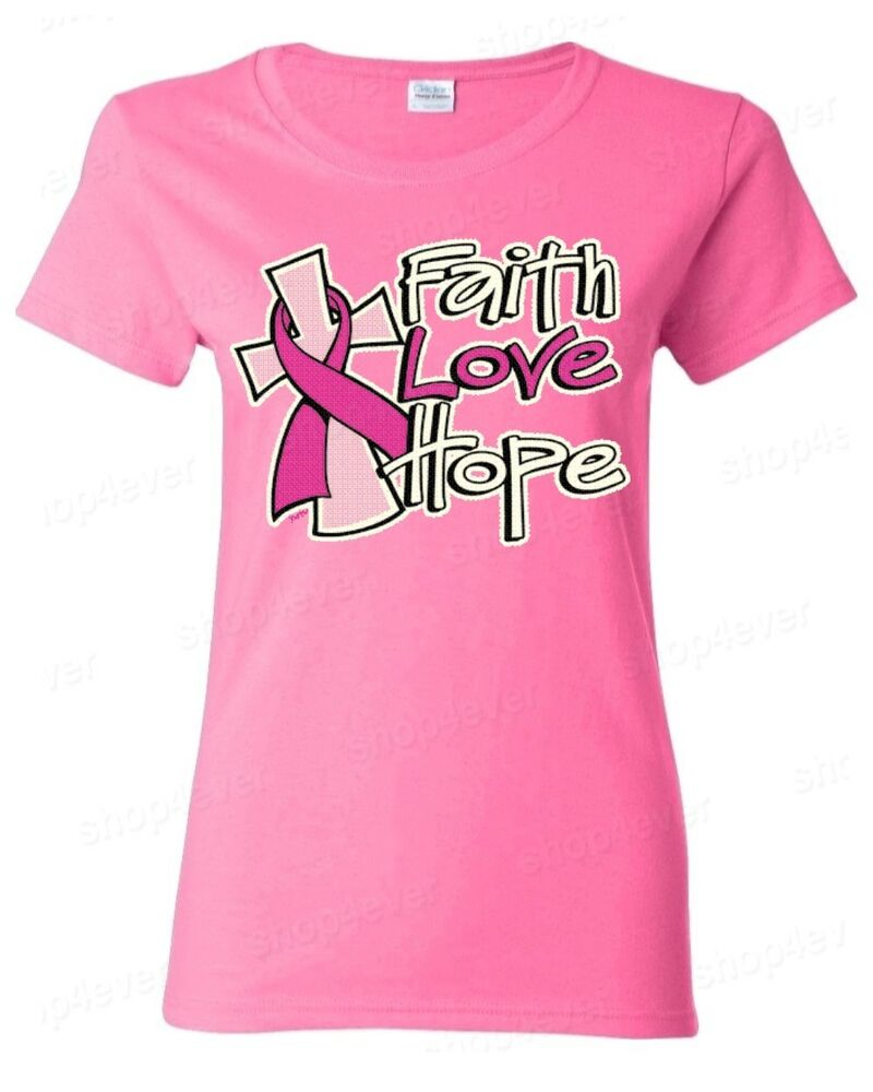 breast cancer apparel faith breast cancer awareness t shirt save 12316