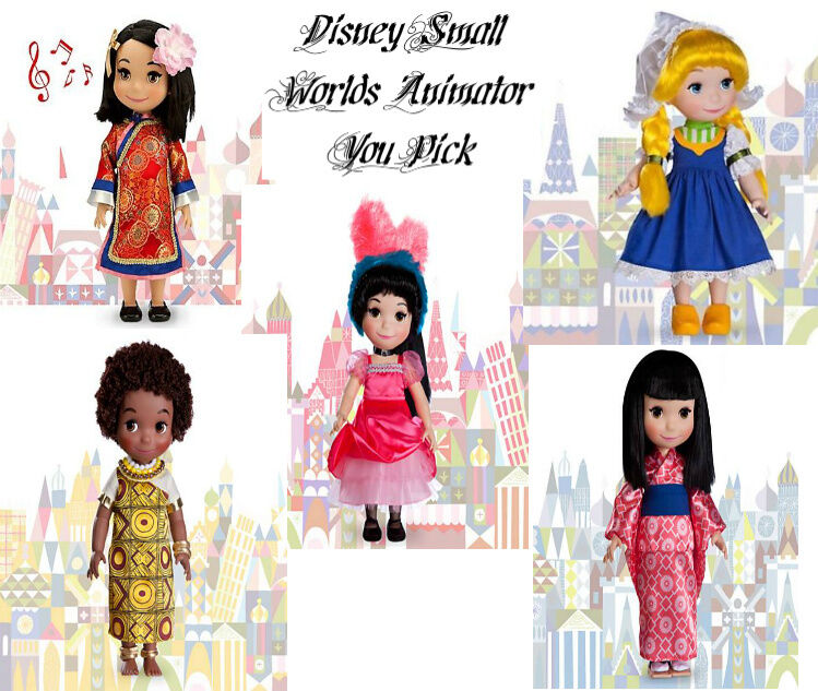 No It's Not >> Disney Store It's A Small World Animators Collection Singing Doll New~` YOU PICK   eBay