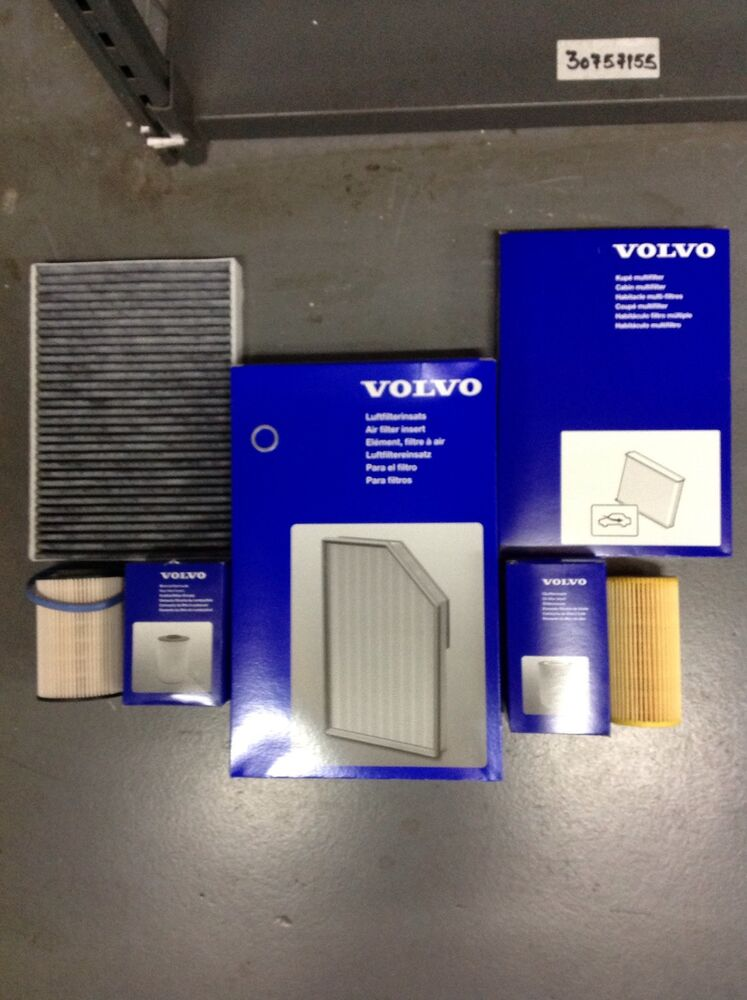 genuine volvo service kit d3 diesel v70 s60 s80 oil air fuel pollen filters ebay. Black Bedroom Furniture Sets. Home Design Ideas