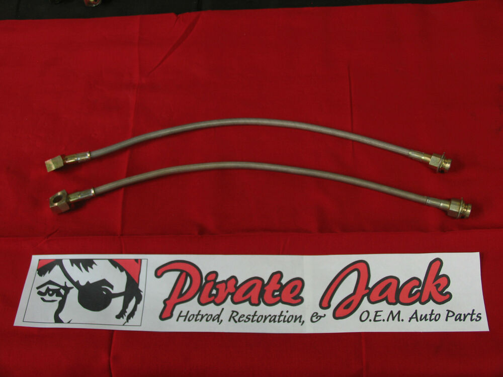 Auto Parts Brake Lines : Quot stainless steel brake hose w clips banjo