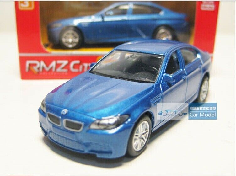 Diecast Blue Car 3009 Bmw M5 Pull Back Function Rmz City