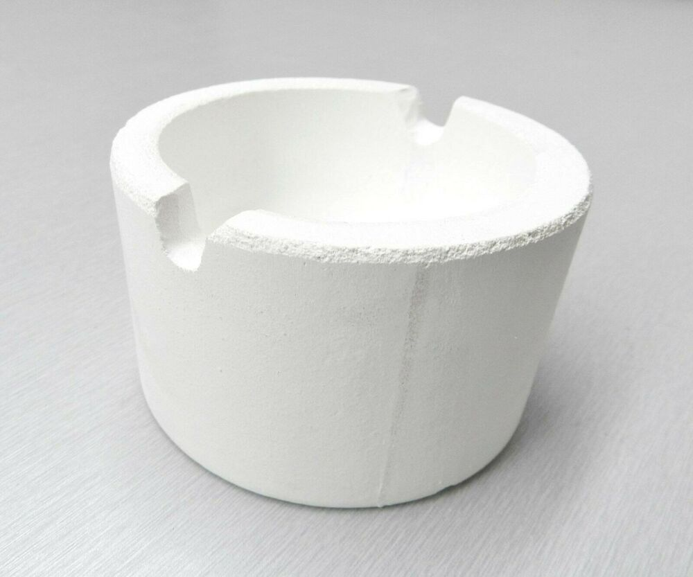 Ceramic Silica Crucible 375 Gr 240 Dwt Dish Cup Melting