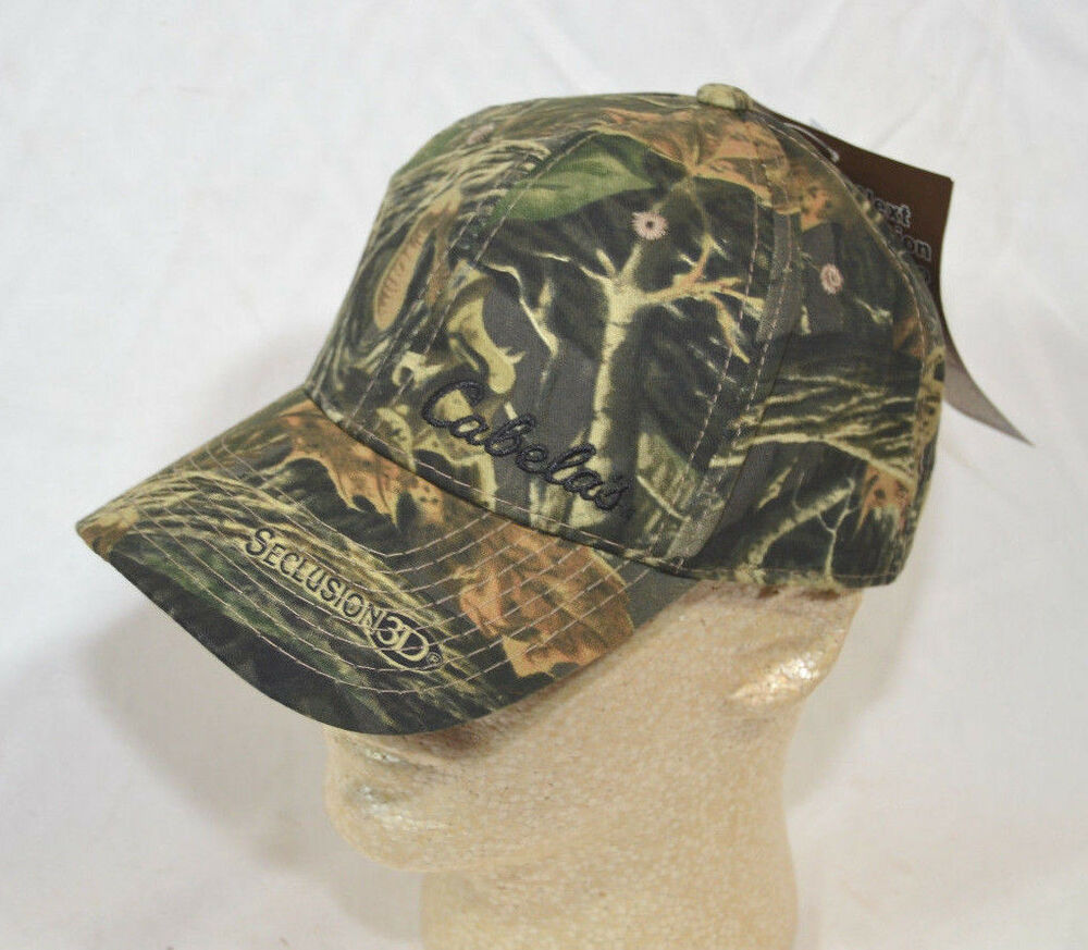 Cabela's Solid Field Seclusion 3D Camo Cap Hat NEW