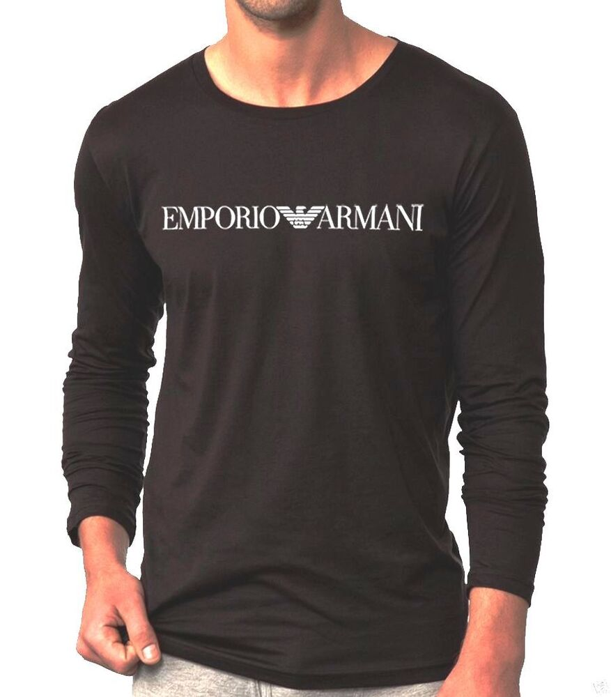 long sleeve emporio armani muscle tight fit t shirt size m. Black Bedroom Furniture Sets. Home Design Ideas
