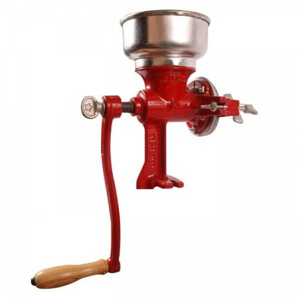 Hand Crank Coffee Grinder ~ Cast iron manual grain grinder hand crank corn coffee