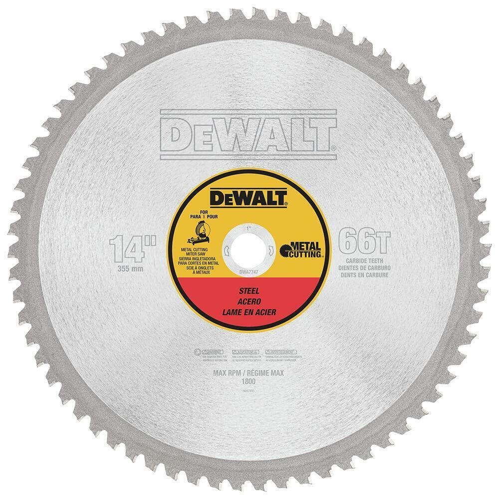Dewalt Dwa7747 14 66t Heavy Gauge Ferrous Metal Cutting