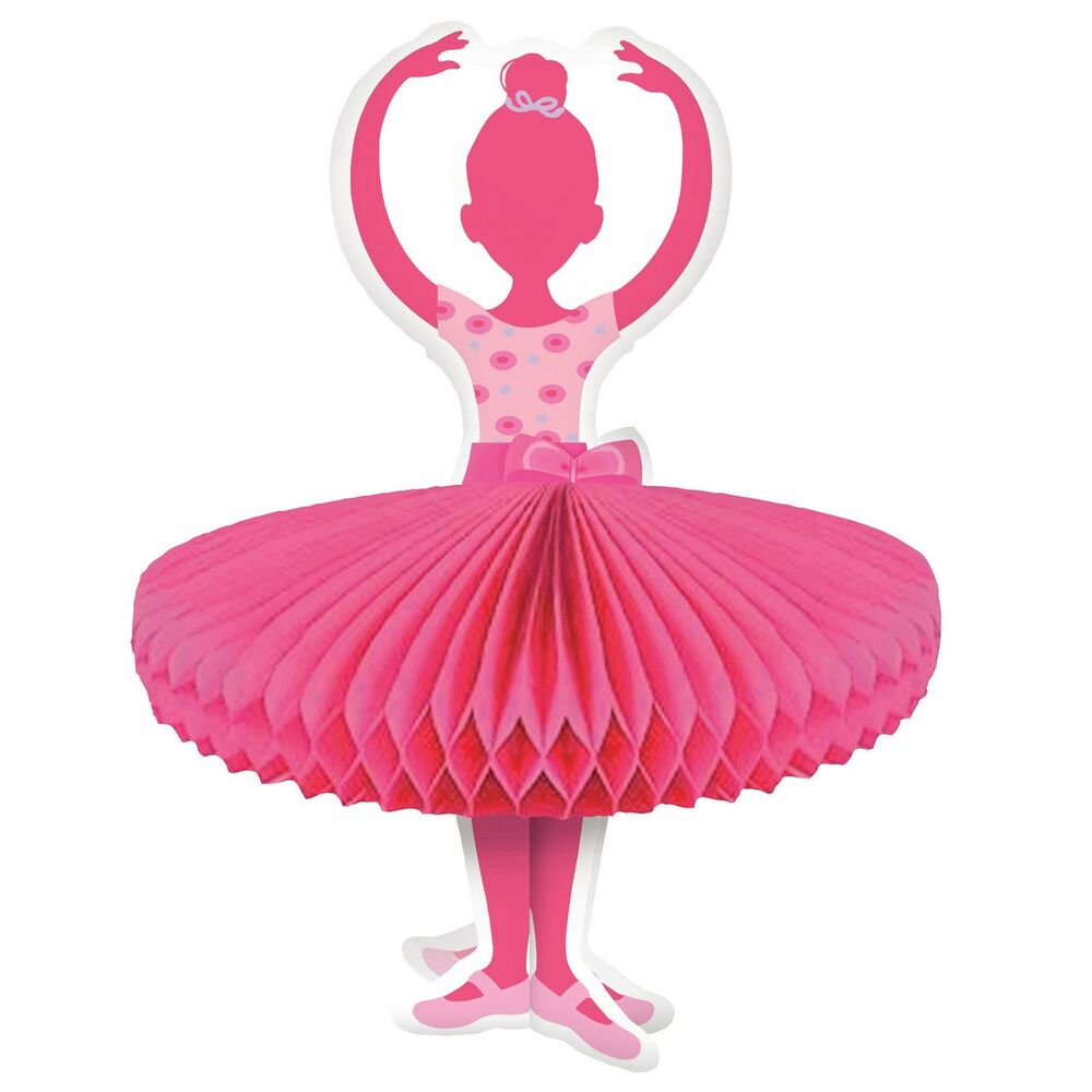 12 tutu much fun ballerina ballet party table honeycomb for Ballerina party decoration ideas