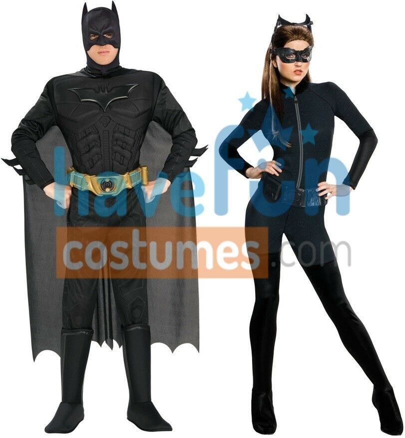 couples costumes batman catwoman adult the dark knight rises cosplay halloween ebay. Black Bedroom Furniture Sets. Home Design Ideas