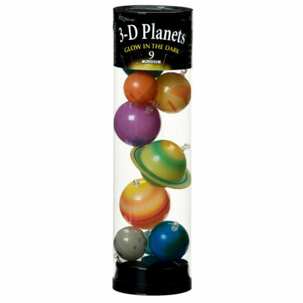Solar System And Planet Toys : D planets in a tube glow the dark glowing solar
