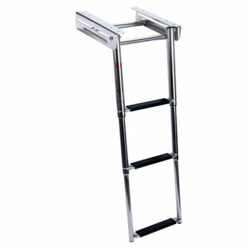 Telescopic Ladder Parts : Stainless steel step under platform boat boarding ladder