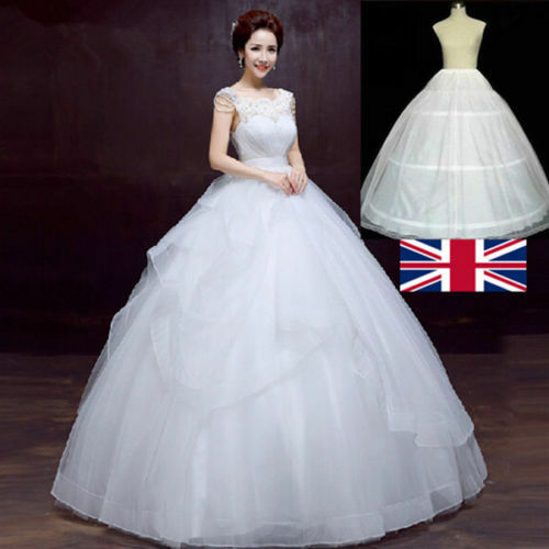Wedding Dresses For Over 50s Uk: UK3Hoops Prom Wedding Bridal Fullness Dress Underskirt