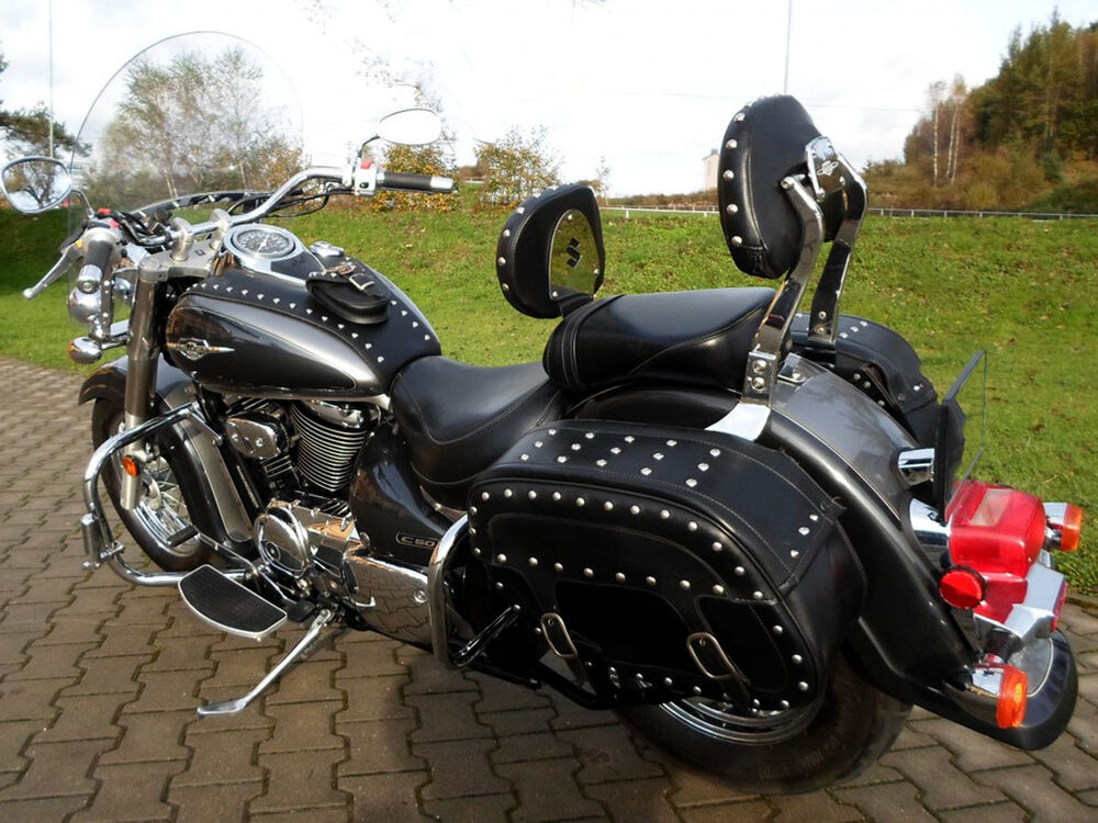 studded driver rider backrest suzuki vl800 volusia c 800. Black Bedroom Furniture Sets. Home Design Ideas