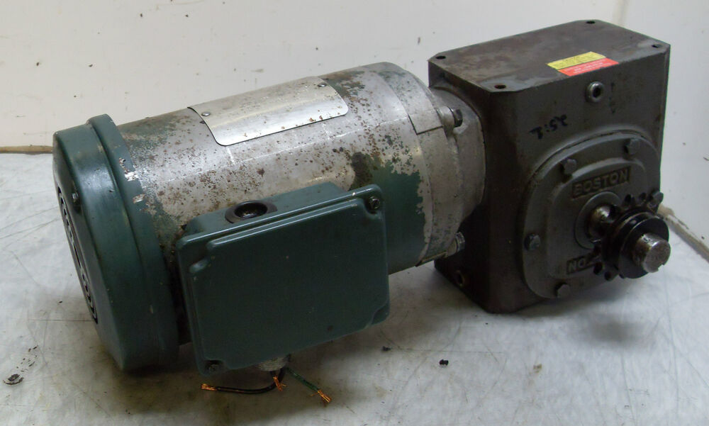 boston baldor 1 1 2 hp motor w boston 25 1 ratio