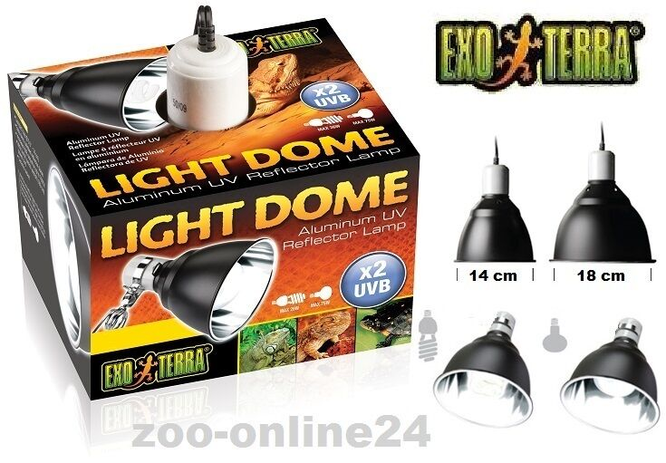 exo terra light dome uv reflektor lampe terrarium spot strahler h nge leuchte ebay. Black Bedroom Furniture Sets. Home Design Ideas