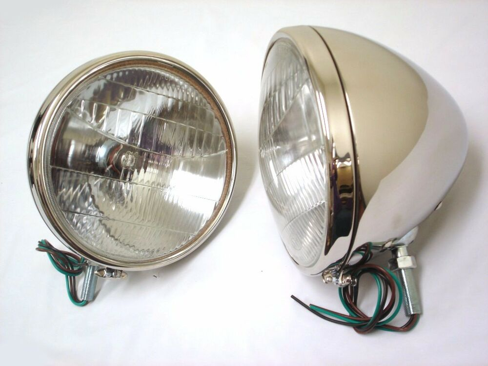 1933 Ford Headlights : Ford car stainless headlights glass lens logo