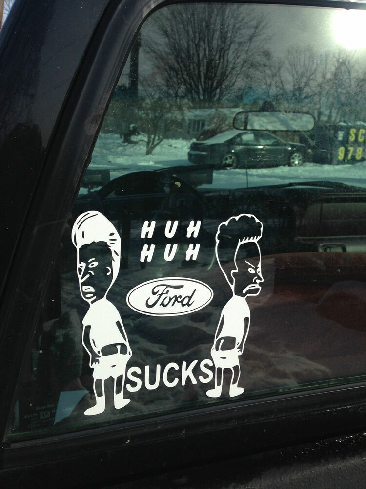 Beavis And Butthead Ford Sucks Funny Jdm Sticker Window