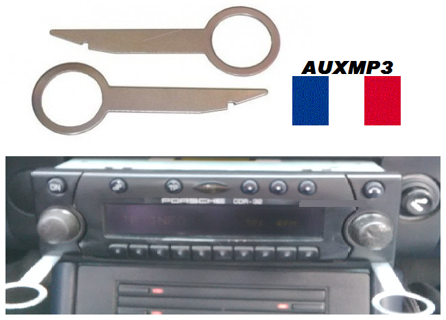 2 cl s clef extraction autoradio d montage porsche boxster 2000 2001 france ebay. Black Bedroom Furniture Sets. Home Design Ideas