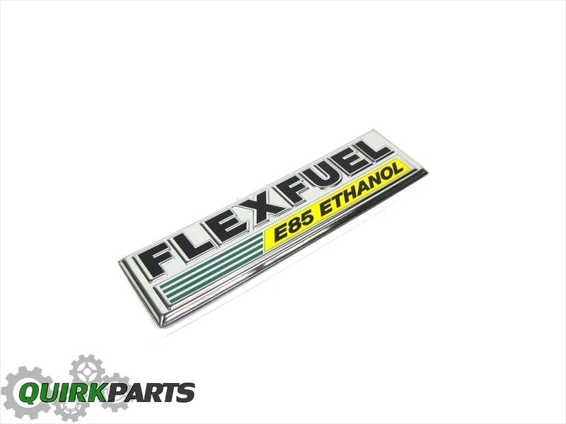 jeep dodge chrysler flex fuel e85 ethanol emblem badge nameplate oem new mopar ebay. Black Bedroom Furniture Sets. Home Design Ideas