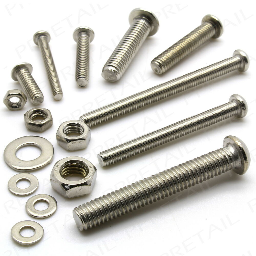 Large Washers 448pc Nuts Bolts Washers Short Long M3 M4 M5 M6 Small Large