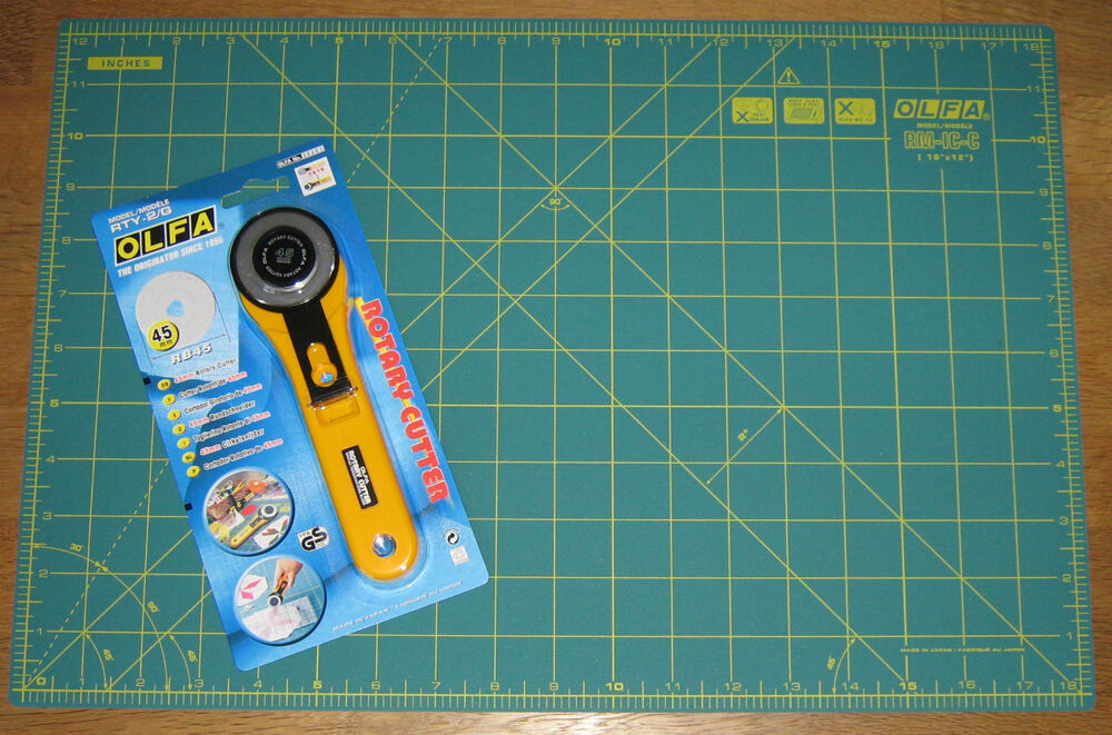 Olfa Rotary Cutter Rty 2 G Amp Cutting Mat Rm Ic C 12 Quot X 18