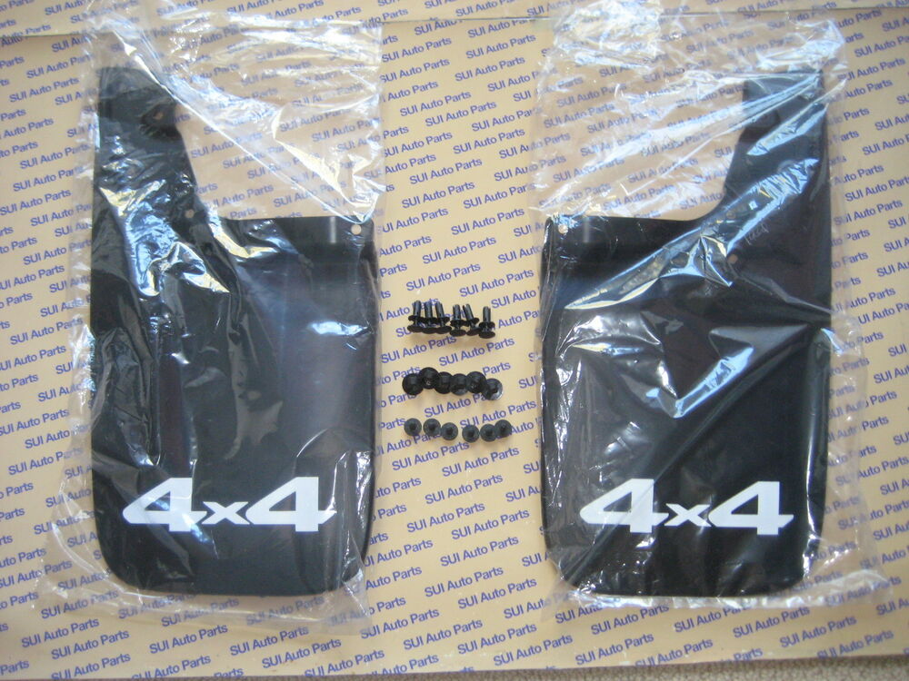 Toyota Tacoma Rear Mud Flaps Set of 2 L & R w Bolts Genuine OEM NEW 2005-2014 | eBay