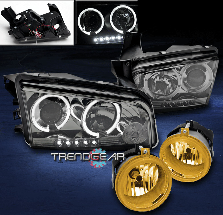 2006 2009 Dodge Charger Halo Led Smoke Projector Head