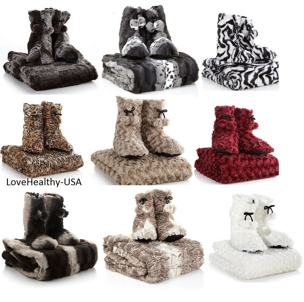A By Adrienne Landau Faux Fur Throw And Booties Pick