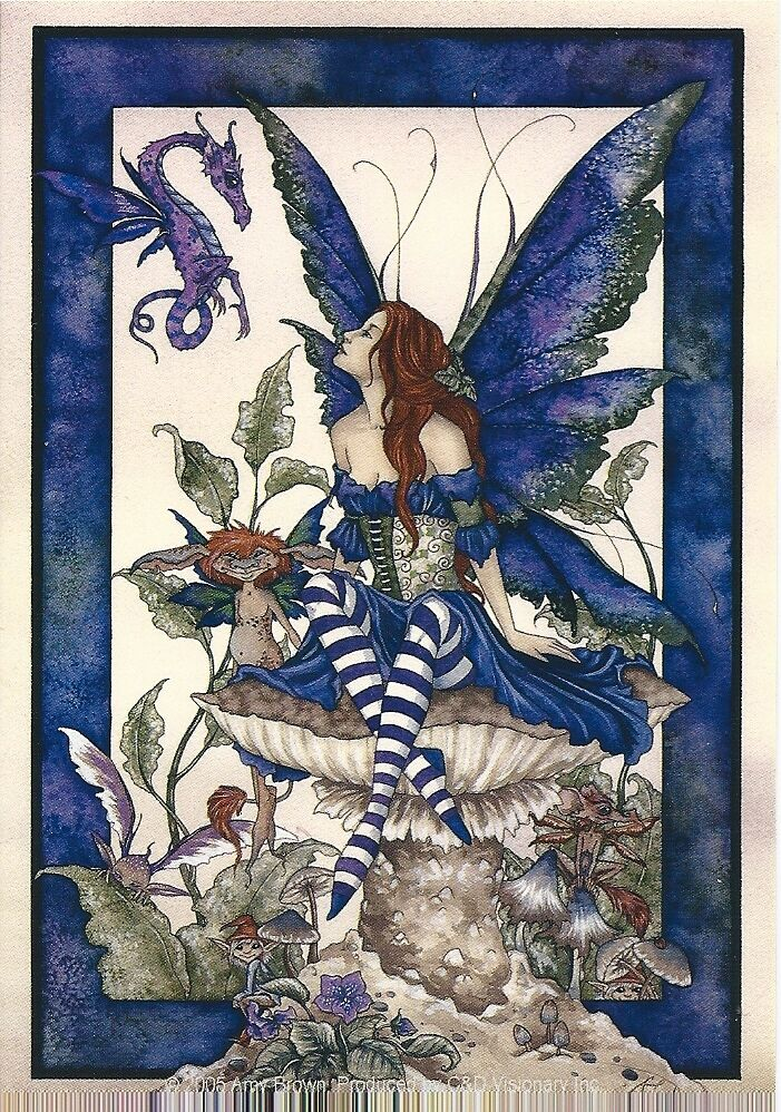 Amy Brown Sticker Decal Fairy Faery Bottom Of The Garden