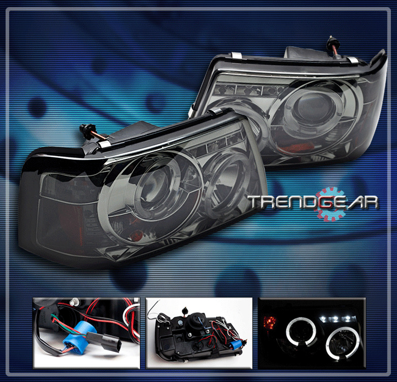 Ford Ranger Projector Headlights : Ford ranger halo led projector headlight smoke edge