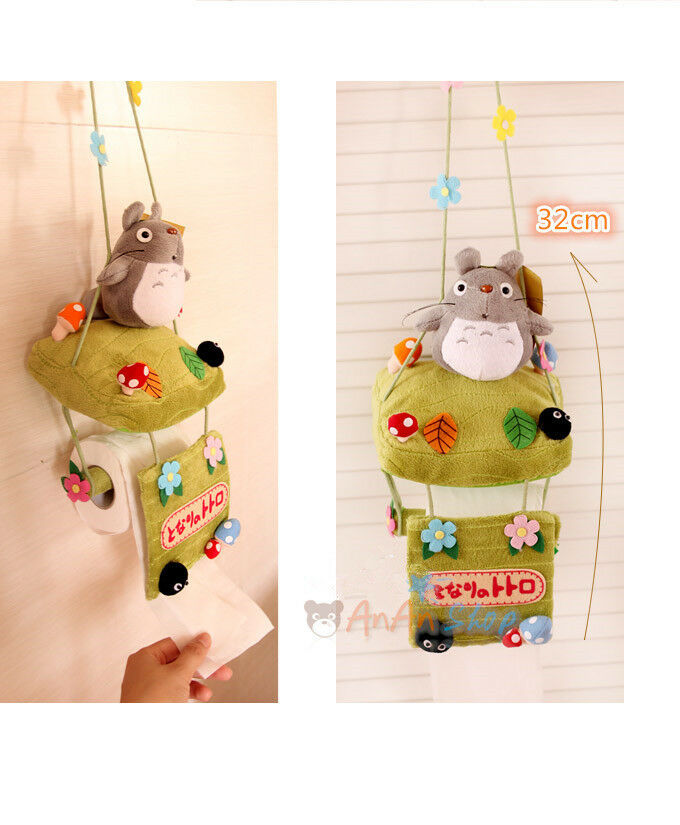 Free shipping stuffed animal doll cute plush totoro toilet Animal toilet paper holder