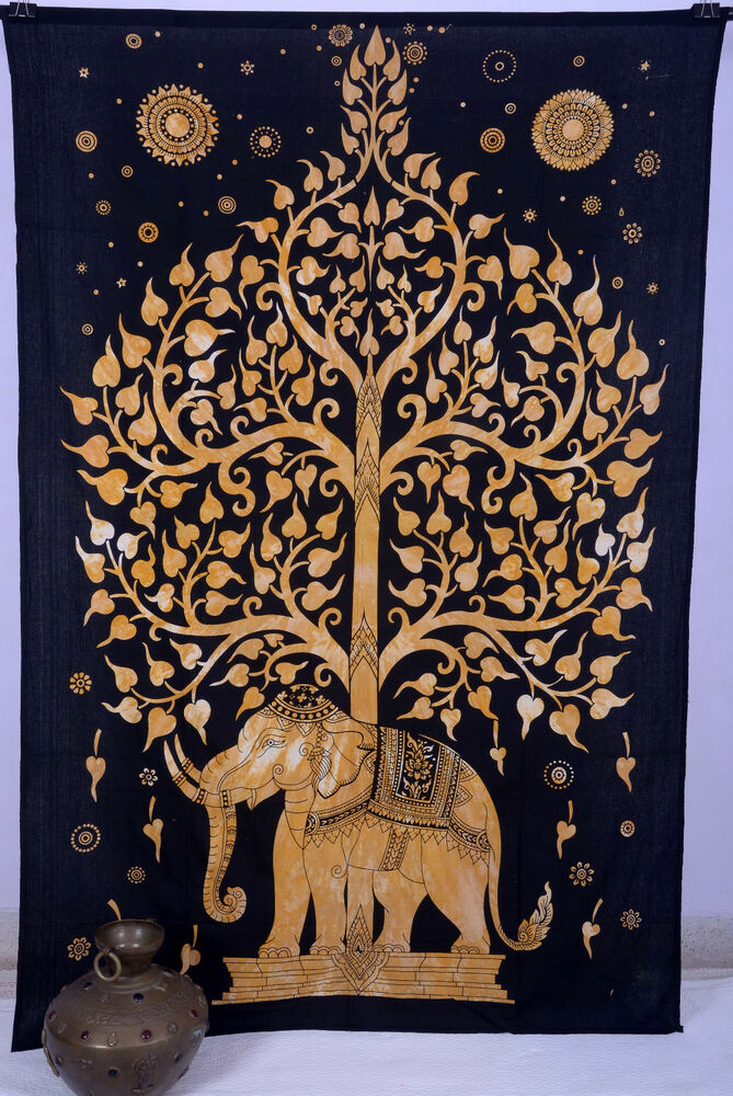 Decorative Wall Hanging Tapestry : Tree of life indian wall hanging tapestry bedspread throw