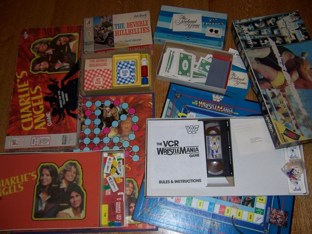 4 old tv board games vintage charlies angels the beverly. Black Bedroom Furniture Sets. Home Design Ideas