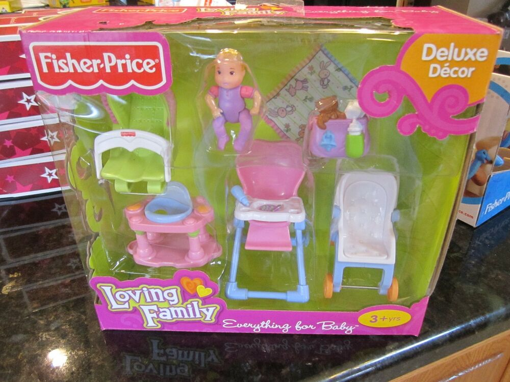 Fisher Price Loving Family Deluxe Everything For Baby Room