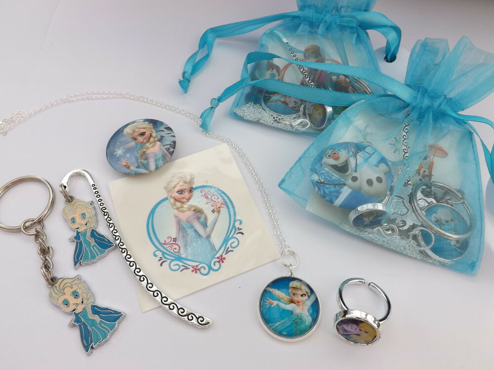 Girls frozen deluxe party bag birthday gift anna elsa olaf jewelry