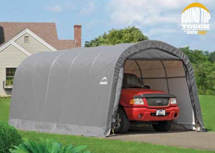 Metal Car Shelter : Shelterlogic round auto shelter portable garage