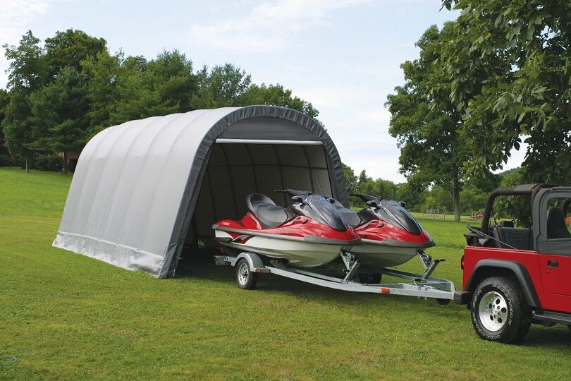 Portable Boat Covers : Shelter logic car truck boat cover portable garage
