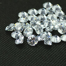 Wholesale 20pcs Lot CZ Cubic Zirconia Loose Stone White AAA Quality SIZE 2-12mm