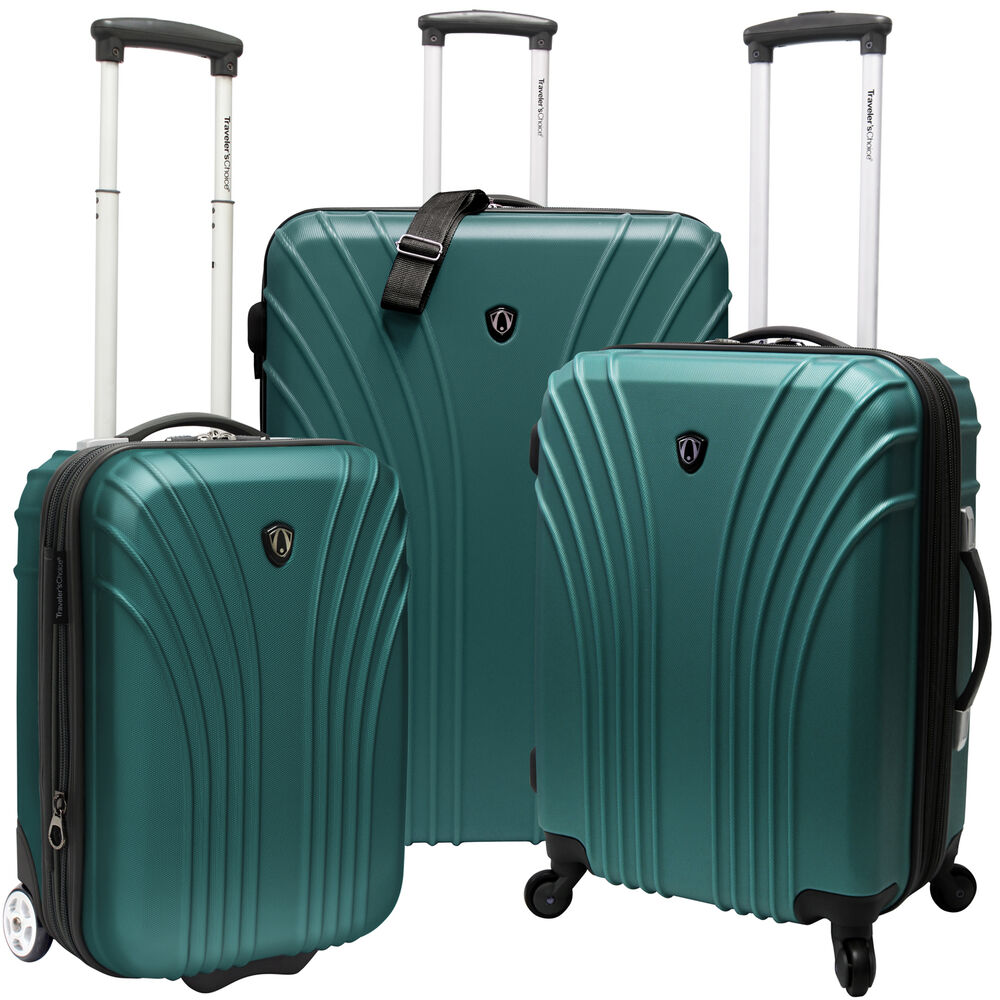 Travelers Choice Cape Verde Green 3-Piece Spinner Rolling ...