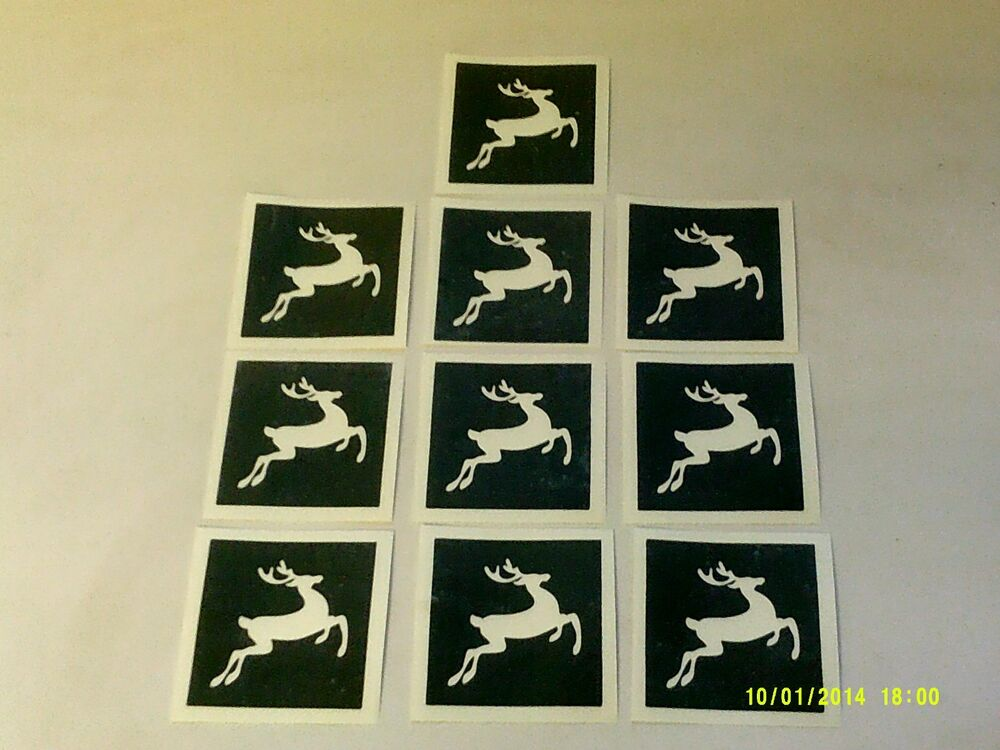 10 - 400 reindeer stencils for etching on glass hobby ...