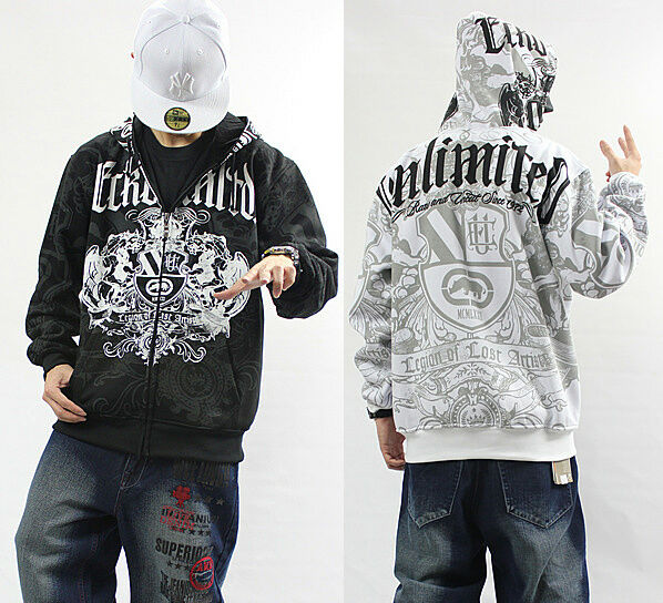 4f3 man hip hop ecko unltd hoodie coat cotton rhino. Black Bedroom Furniture Sets. Home Design Ideas
