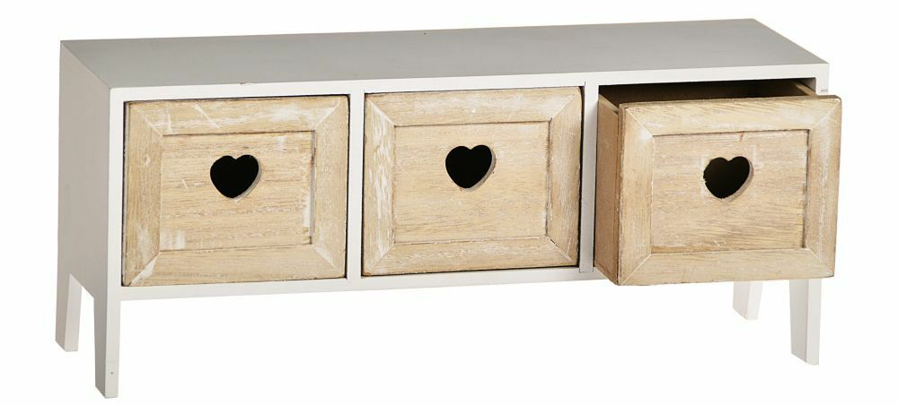 minikommode kommode 3 schubladen deko box regal herz. Black Bedroom Furniture Sets. Home Design Ideas