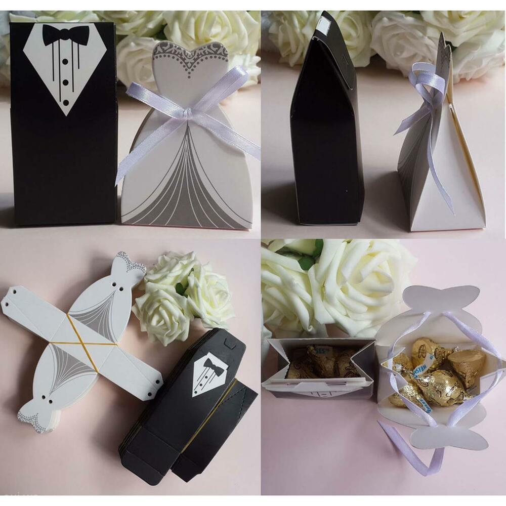 europe 2 tuxedo 2 bridedress shape candy boxes wedding dresses suits paper case ebay. Black Bedroom Furniture Sets. Home Design Ideas