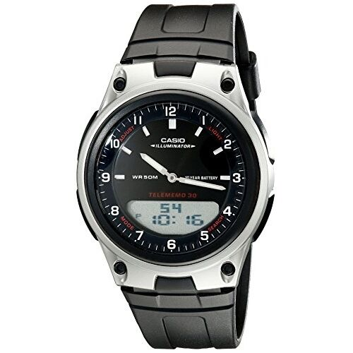 Casio men 39 s aw80 1av forester ana digi databank 10 year battery watch ebay for Watches battery