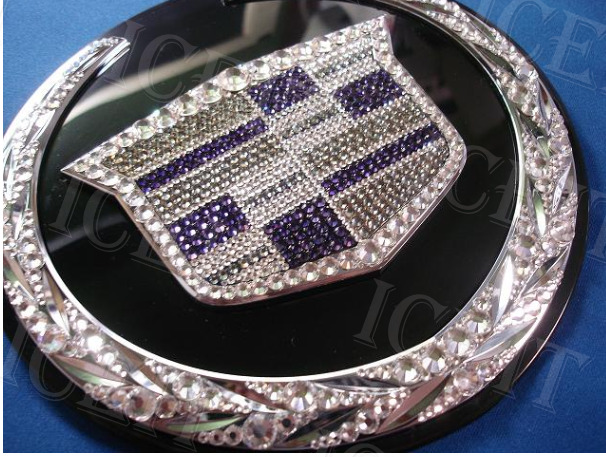 Cadillac Front 6 Quot Multi Color Bling Logo Emblem With