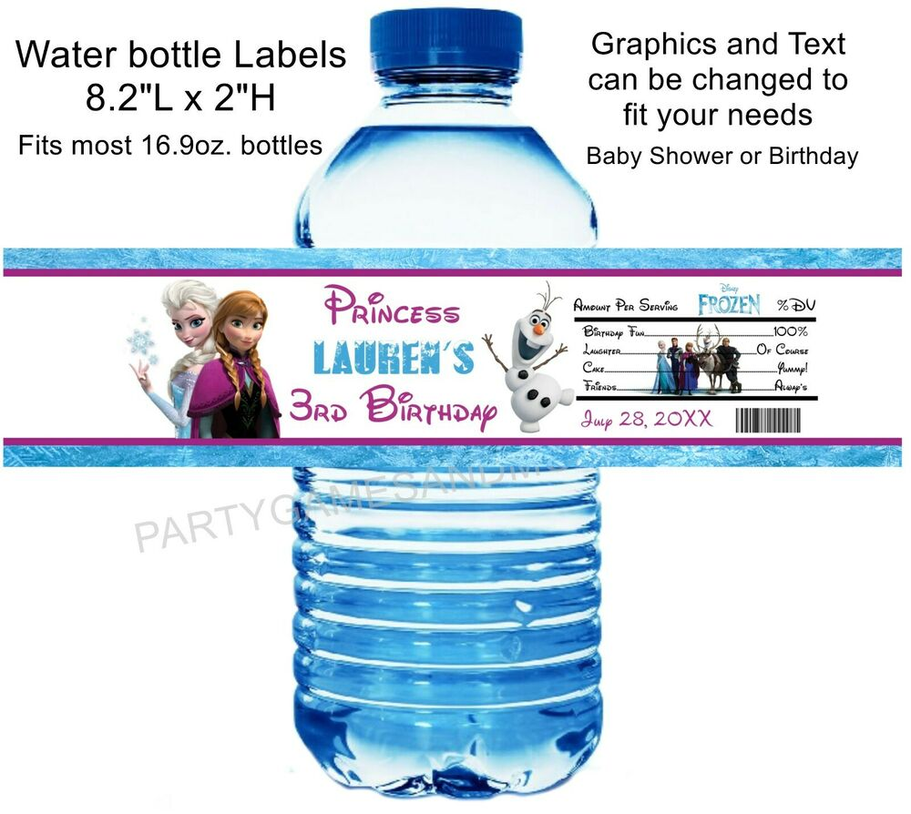 water bottle labels baby shower