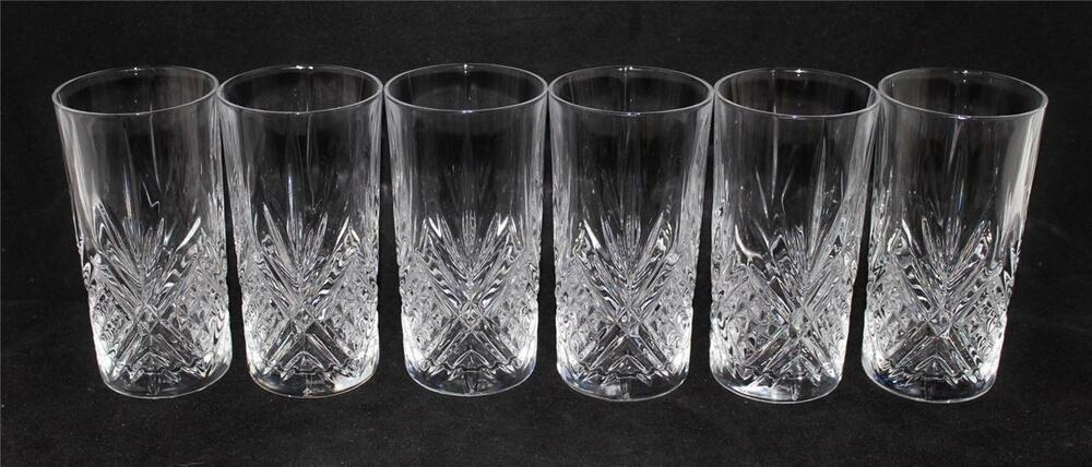 cristal d 39 arques jg durand fontenay 5 3 4 highball glasses crystal set of 6 ebay. Black Bedroom Furniture Sets. Home Design Ideas