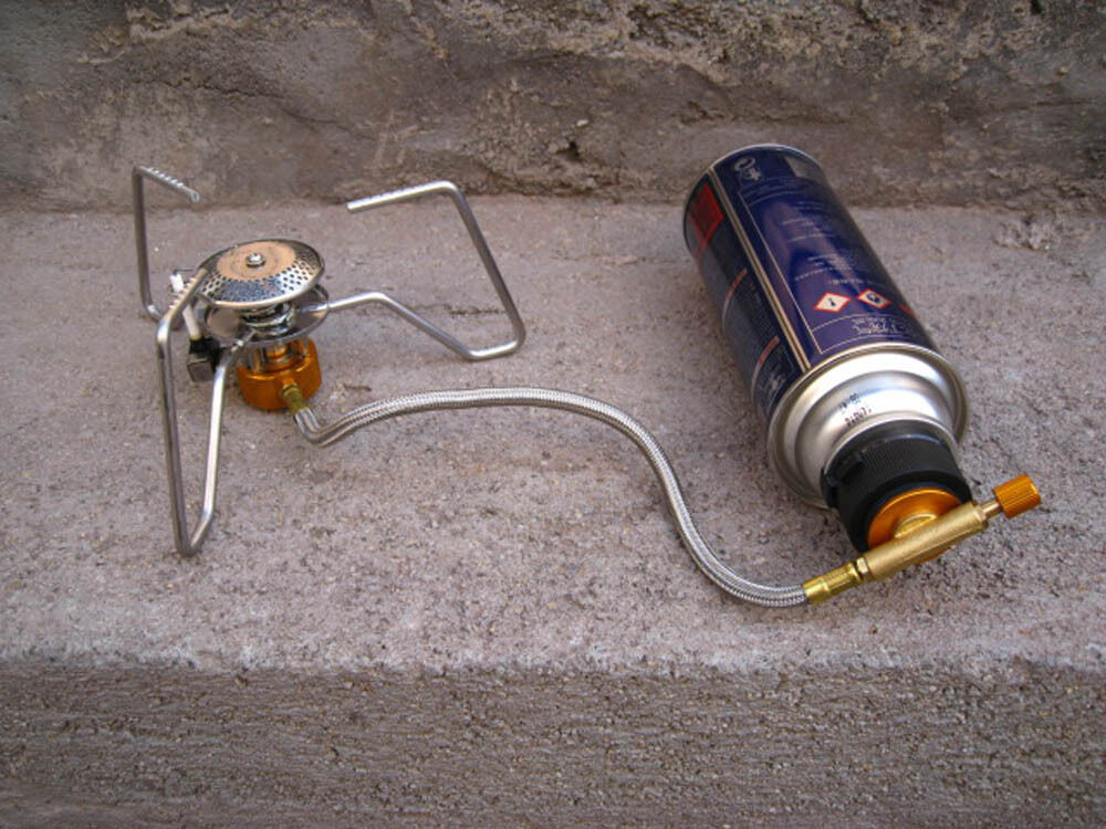 Camping Burner Cartridge Gas Fuel Canister Stove Cans Tank Adapter Conver