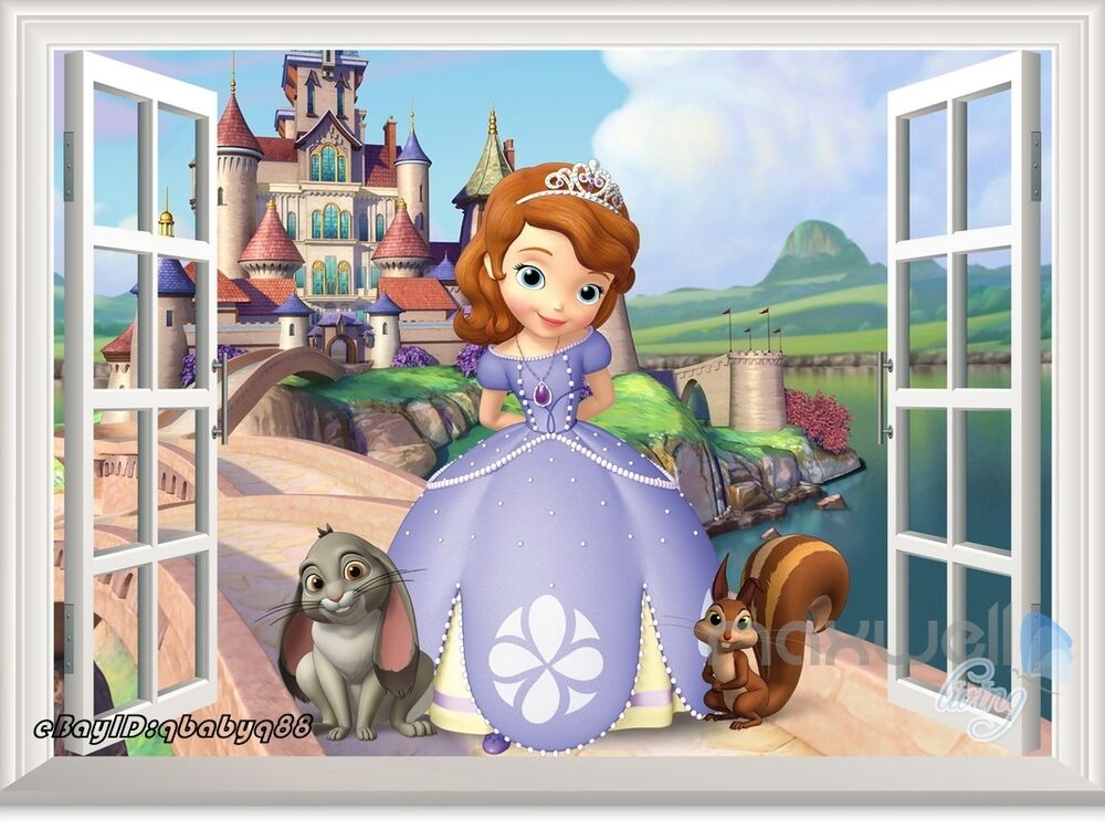 Disney Princess Sofia The First 3d Window Wall Decals Kids